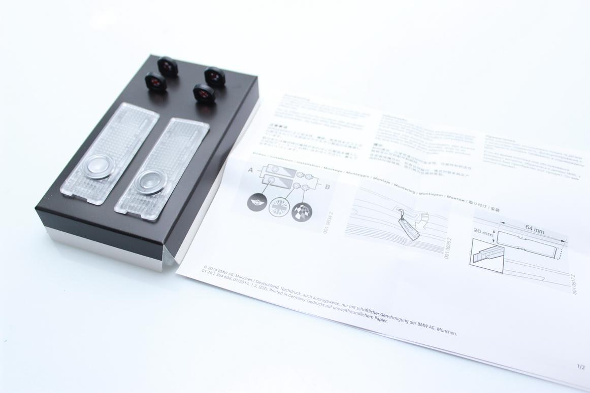Genuine MINI LED Door Logo Projector R50 R53 R56 Clubman JCW Series NEW OEM
