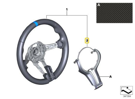 BMW X5MF85  X6MF86 Cover Steering Wheel Carbon 32302347841