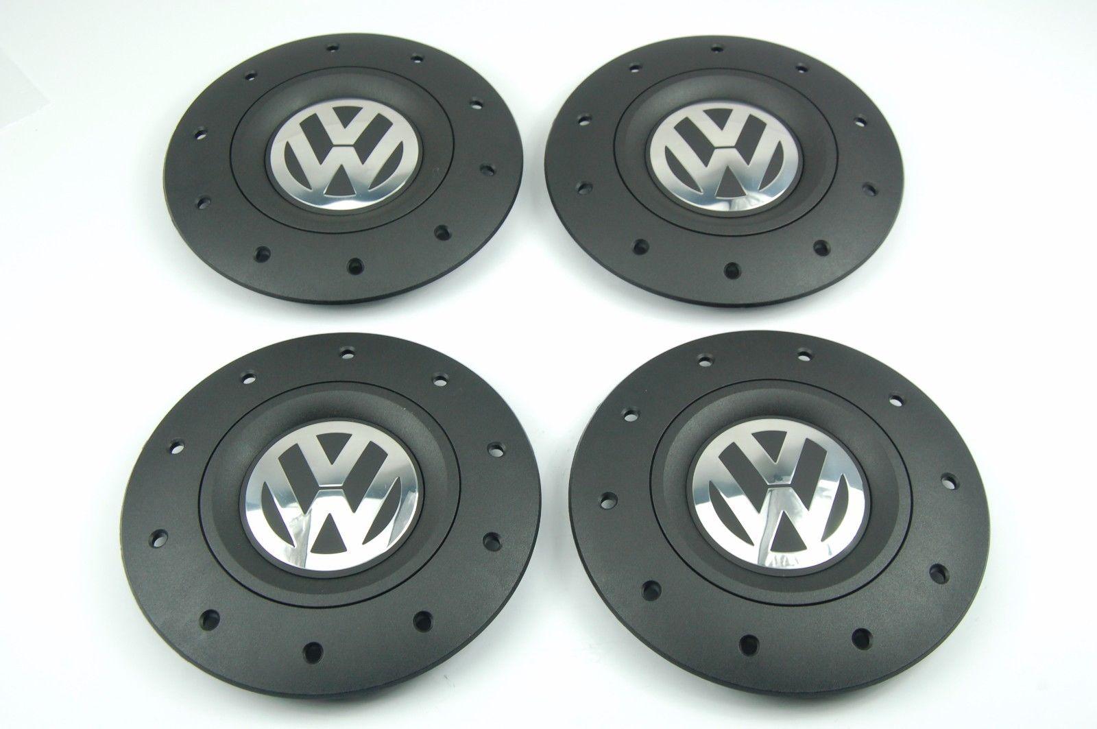 Steel Wheel Center Hub Black Chrome Cap 1pcs VW Transporter T5 2003-2013