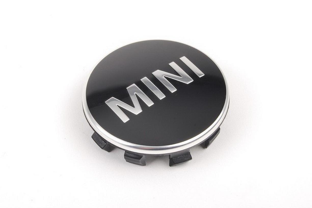 MINI F55 Word Mark Alloy Wheel Center Cap Chrome Trim 6857149
